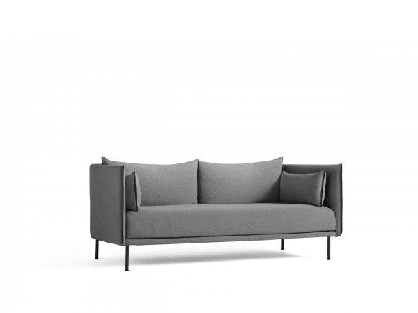 HAY_Sofá Silhouette 2 seater_2 asientos_black steel base_base en acero negro cromado_MINIM Showroom_Madrid_Barcelona