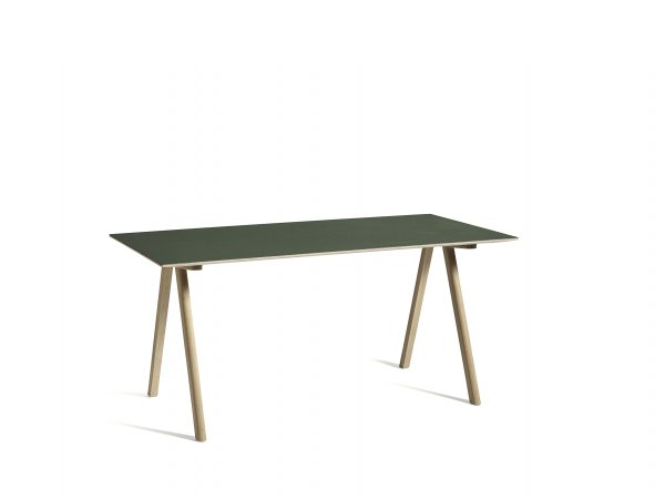 HAY_CPH10 Desk_ escritorio_L160xW80 green lino_matt lacquer oak base_verde y roble placado_MINIM Showroom_Barcelona_Madrid