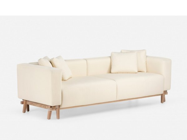 Sofa Eight Armless - Neri&Hu - patas de nogal - sofá blanco -delaespada-MINIM