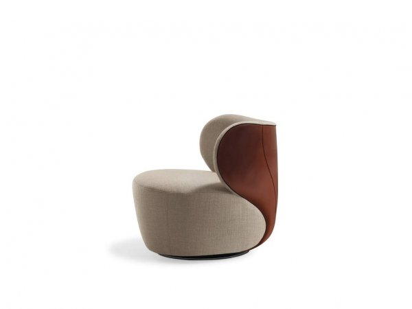 Walter Knoll - Butaca Bao beige y piel marrón - Madrid Barcelona - Showroom MINIM