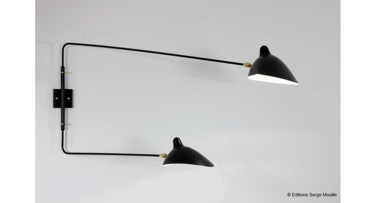 Lámparas de pared Spider 2 rotating straight arms | MINIM – tu punto ...